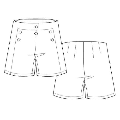 Patrons de couture Croquis Short Marinette
