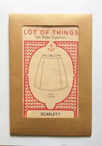 Pochette patron couture jupe Scarlett - Modèle débutant