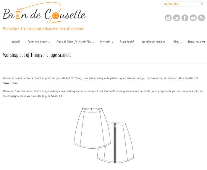 Presse Brin de cousette - Patrons de couture